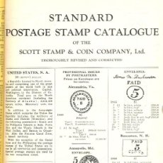 Sellos: STANDARD POSTAGE STAMP CATALOGUE OF THE SCOTT STAMP & COIN COMPAÑY. NEW YORK, 1938.. Lote 23693309