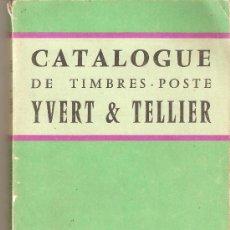 Sellos: CATALOGUE DE TIMBRES-POSTE.YVERT & TELLIER.TOMO 1.1961. Lote 27217135