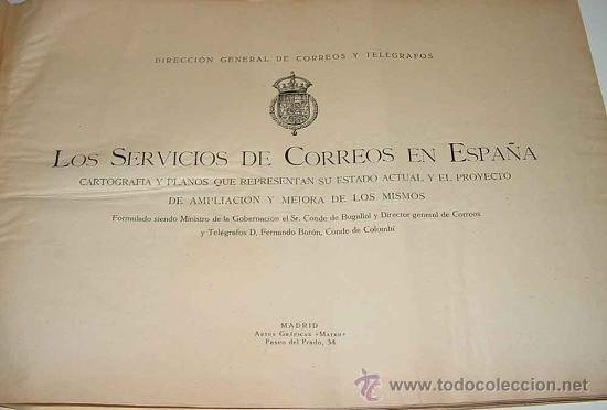 Sellos: Los servicios de correos en España : cartografía y planos que representan su estado actual y el proy - Foto 2 - 26563406