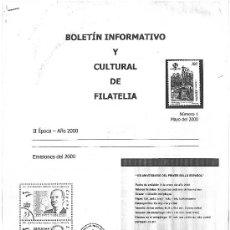 Sellos: BOLETÍN INFORMATIVO Y CULTURAL DE FILATELIA - AÑO 2000 - 2001 - 2002- NÚM. 1 AL 30. Lote 26621259