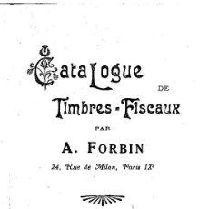 Sellos: CATALOGO FORBIN DE SELLOS FISCALES DE ESPAÑA 1915 - ENVIO GRATIS. Lote 79101625