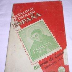 Sellos: CATALOGO ILUSTRADO DE ESPAÑA - RICARDO DE LAMA - 1957 - VER DETALLES. Lote 25787246
