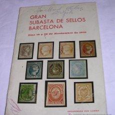 Sellos: GRAN SUBASTA DE SELLOS - BARCELONA - 19 Y 20 DE NOVIEMBRE DE 1970 - VER DETALLES. Lote 24551733
