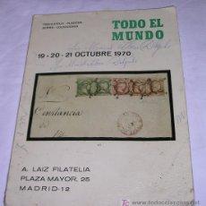 Sellos: VENTA DE SELLOS DE TODO EL MUNDO - MADRID - 19 - 20 - 21 DE OCTUBRE 1970 - VER DETALLES. Lote 26701616