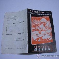 Francobolli: SELLOS. CATÁLOGO HEVIA 1953 DE COLONIAS Y EX-COLONIAS ESPAÑOLAS (CUBA Y FILIPINAS). 13X22 70 PÁG. . Lote 21231574