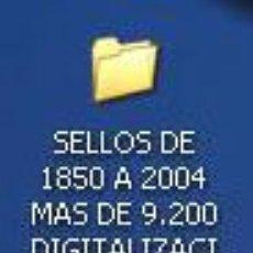 Sellos: DISCO, DIGITALIZACIÓN DE TODOS LOS SELLOS DE ESPAÑA 1X1, DESDE 1850 HASTA 2004, EN CARPETAS POR AÑOS. Lote 27388196