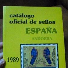Sellos: CATALOGO OFICIAL DE SELLOS ESPAÑA -ANDORRA- 1.889 /1989. Lote 25358385