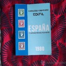 Sellos: CATALOGO UNIFICADO EDIFIL-ESPAÑA Y DEPENDENCIAS POSTALES-1980. Lote 23733047