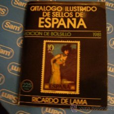 Sellos: CATALOGO ILUSTRADO DE SELLOS DE ESPAÑA EDICION BOLSILLO 1981. Lote 23778092