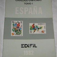 Sellos: CATÁLOGO UNIFICADO EDIFIL TOMO I, ESPAÑA, DE 1982. Lote 24389395