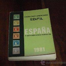 Sellos: CATALOGO UNIFICADO DE SELLOS-ESPAÑA Y DEPENDENCIAS POSTALES-1981-. Lote 27112778