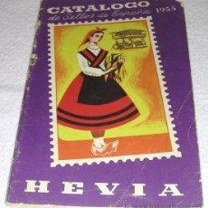 Sellos: CATALOGO HEVIA DE SELLOS DE ESPAÑA 1955 - BUEN ESTADO GENERAL - MUY ILUSTRADO. Lote 28211942