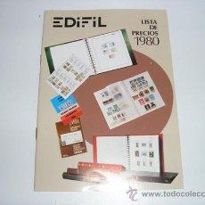 Sellos: CATALOGO LISTA DE PRECIOS 1980 EDIFIL - . Lote 28360811