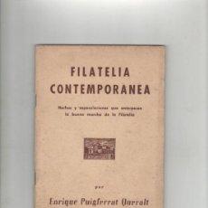 Sellos: ENRIQUE PUIGFERRAT QUERALT FILATELIA CONTEMPORANEA BARCELONA 1964 BIBLIOTECA POPULAR DEL FILATELISTA. Lote 28489422