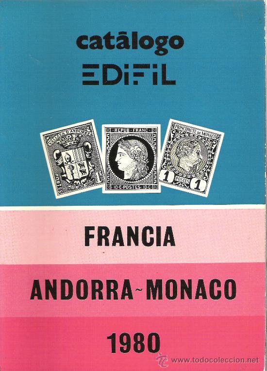 CATALOGO SELLOS EDIFIL - AÑO 1980 - FRANCIA - ANDORRA - MONACO (Filatelia - Sellos - Catálogos y Libros)