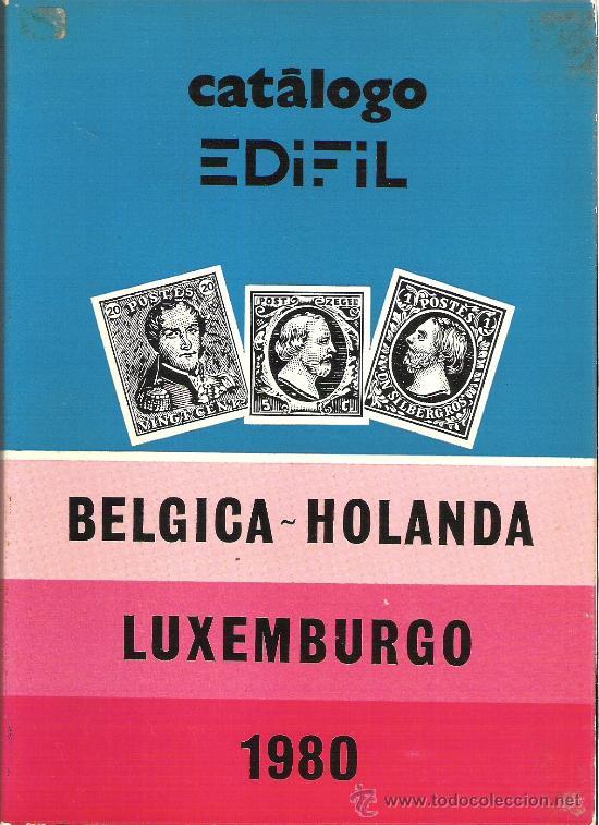 CATALOGO SELLOS EDIFIL - AÑO 1980 - BELGICA - HOLANDA - LUXEMBURGO (Filatelia - Sellos - Catálogos y Libros)