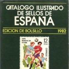Sellos: CATALOGO ILUSTRADO DE SELLOS DE ESPAÑA - EDICIÓN BOLSILLO 1982 - RICARDO DE LAMA. Lote 28780842