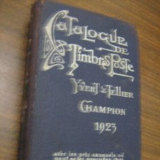 Sellos: CATALOGUE DE TIMBRES POSTE - YVERT & TELLIER - CHAMPION, 1923. Lote 29127024
