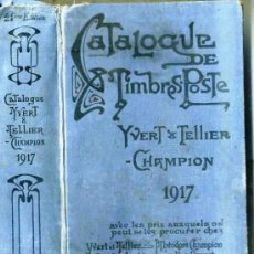 Sellos: CATALOGUE DE TIMBRES POSTE YVERT TELLIER CHAMPION 1917. Lote 29308196