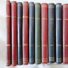Sellos: 1O CATALOGOS EDIFIL EDICIONES NUMERADAS. 1965 - 1978. Lote 30947971