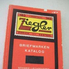 Sellos: BRIEFMARKEN KATALOG-SCHWEIZ/LIECHTENSTEIN-1969-140 LIMMATQUAI-ZURICH BEIM CENTRAL. Lote 31086284