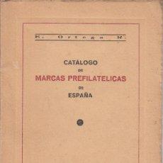 Sellos: .CATALOGO MARCAS PREFILATELICAS ESPAÑA TOMO I ANDALUCIA. E ORTEGA RODRIGUEZ 1954 GRANADA. Lote 31208860