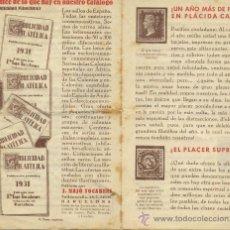 Sellos: J.MAJÓ TOCABENS FOLLETO PUBLICITARIO 1931. Lote 31659840