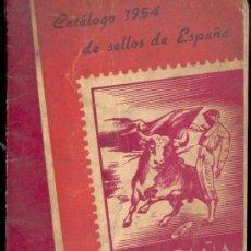 Sellos: CATALOGO 1954 DE SELLOS DE ESPAÑA - HEVIA 7ª EDICION 1954. Lote 34282517
