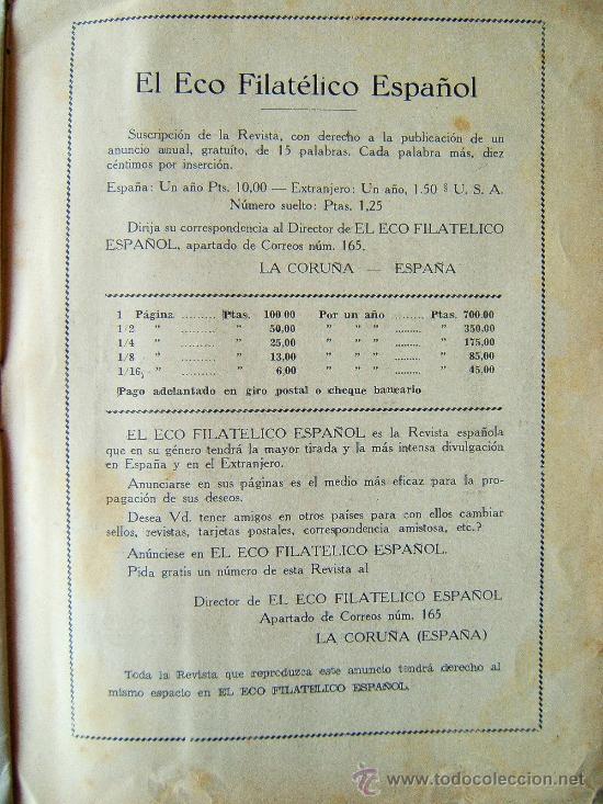 Sellos: EL ECO FILATELICO ESPAÑOL - 2 REVISTAS - Nº 1 Y Nº 2 - LA CORUÑA - 1938 - II AÑO TRIUNFAL - Foto 7 - 35204217