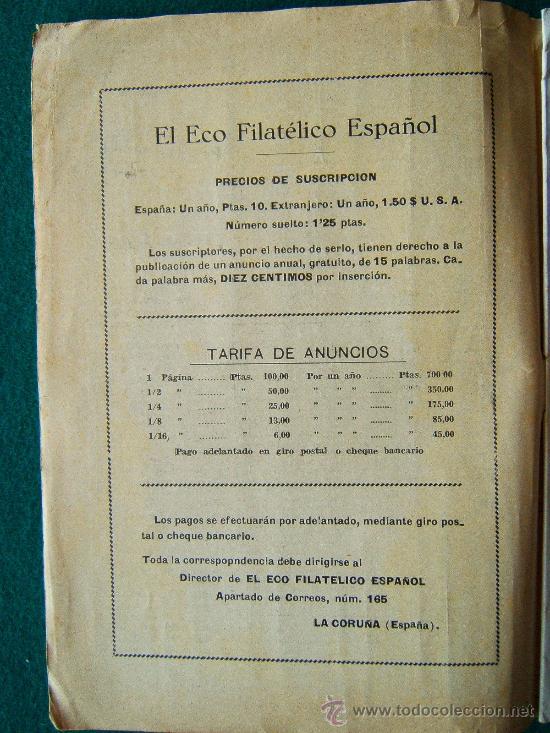 Sellos: EL ECO FILATELICO ESPAÑOL - 2 REVISTAS - Nº 1 Y Nº 2 - LA CORUÑA - 1938 - II AÑO TRIUNFAL - Foto 9 - 35204217