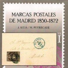 Sellos: MARCAS POSTALES DE MADRID 1850-1872. SOFIMA. Lote 35967705