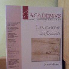 Sellos: REVISTA ACADEMUS. REAL ACADEMIA HISPÁNICA DE FILATELIA. 15 PRIMEROS NÚMEROS. Lote 37478273