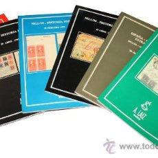 Sellos: LOTE DE 6 CATALOGOS DE SUBASTAS DE SELLOS E HISTORIA POSTAL. Lote 38039189
