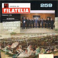 Sellos: REVISTA DE FILATELIA. 259. FEBRERO DE 1991.. Lote 38180448