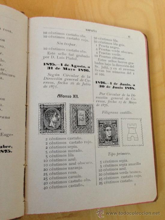 Sellos: 1920.- CATALOGO DE LOS SELLOS DE CORREOS Y TELEGRAFOS DE ESPAÑA Y SUS COLONIAS. DIRECCION GENERAL - Foto 2 - 38531765