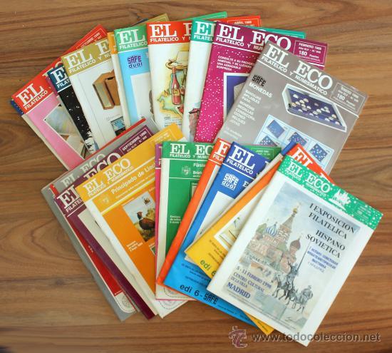35 REVISTAS EL ECO FILATELÍCO Y NUMISMÁTICO (Filatelia - Sellos - Catálogos y Libros)