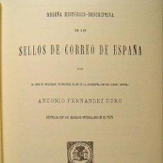Sellos: RESEÑA HISTORICO DESCRIPTIVA DE LOS SELLOS DE CORREO DE ESPAÑA-ANTONIO FERNANDEZ DURO-2002 DE 1881.. Lote 39615587