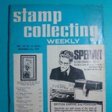 Sellos: STAMP COLLECTING WEEKLY 1974, REVISTA FILATELICA SEMANAL VOL 123 Nº 13, NOVIEMBRE 21 DE 1974. Lote 40854587