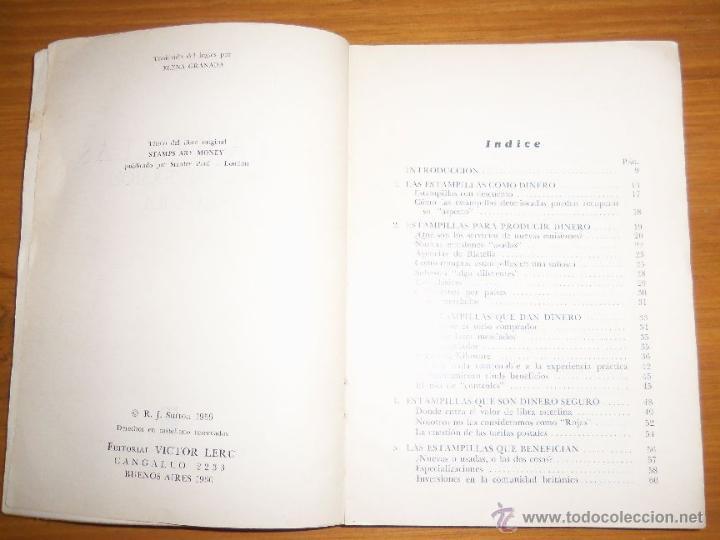 Sellos: ESTAMPILLAS: UNA INVERSION SEGURA, por R. J. Sutton - Editorial V. Lerú - Argentina - 1960 - RARO - Foto 2 - 41238988