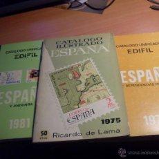 Sellos: CATALOGO EDIFIL ESPAÑA1975, 1975 Y 1981 (LB8). Lote 42747773