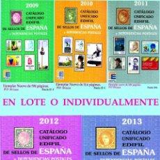 Sellos: LOTE DE 5 CATALOGOS EDIFIL ESPAÑA Y DEPENDENCIAS POSTALES. AÑOS 2009 A 2013 NUEVOS.VER CONDICIONES.. Lote 42780092
