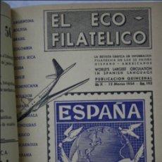 Sellos - Conjunto de 4 Tomos de Revistas El Eco Filatélico y Numismático- De 1948 a 1955 - Filatelia / Sellos - 43135213