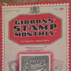Sellos: GIBBONS´STAMP MONTHLY FEBRUARY 1929. Lote 44172417