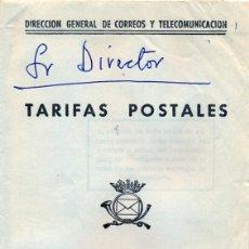 Sellos: TARIFAS POSTALES - AGOSTO 1.966 - DIRECCION GENERAL DE CORREOS Y TELECOMUNICACIONES. Lote 44331642