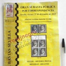 Sellos: CATÁLOGO SUBASTA DE SELLOS Y SOBRES - COLECCIONISMO MUY ILUSTRADRO FILATELIA SELLO CT - NO ES LIBRO. Lote 44650954