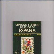 Sellos: CATALOGO ILUSTRADO DE SELLOS DE ESPAÑA - EDICION DE BOLSILLO 1982 - RICARDO DE LAMA. Lote 46776872