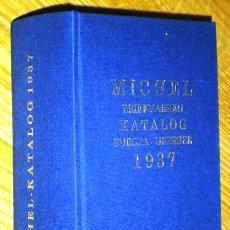 Sellos: BRIEFMARKEN KATALOG EUROPA-UBERSEE POR MICHEL DE VERLAG SCHWANEBERGER EN LEIPZIG 1937. Lote 46789738