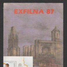 Sellos: INTERESANTE FOLLETO CORREOS EXFILNA 87. Lote 46948858