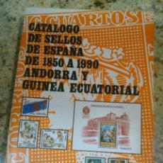 Sellos: FILABO CATÁLOGO SELLOS ESPAÑA DE 1850 A 1990. ANDORRA Y GUINEA ECUATORIAL- . Lote 47019958