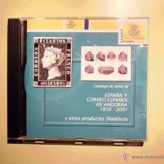 Francobolli: CATALOGO DE SELLOS EN CD DE ESPAÑA Y ANDORRA 1850-2001. Lote 47517299